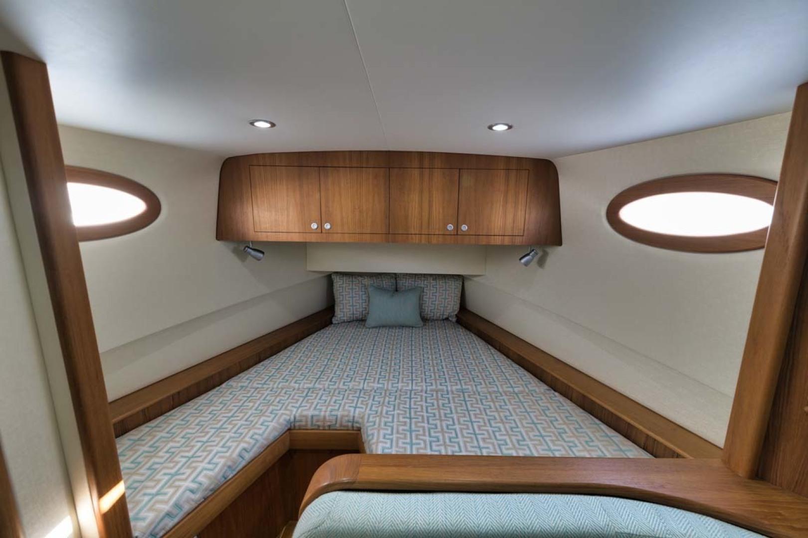 Winter Custom Yachts-46 Walkaround 2019-Family Circus Stuart-Florida-United States-V-Berth with Storage Below and Overhead Storage Lockers-1563744 | Thumbnail