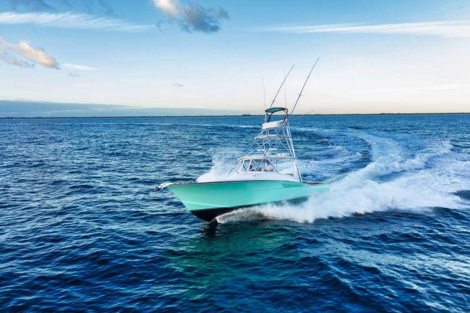 Winter Custom Yachts-46 Walkaround 2019-Family Circus Stuart-Florida-United States-Port Bow Running View-1563790 | Thumbnail
