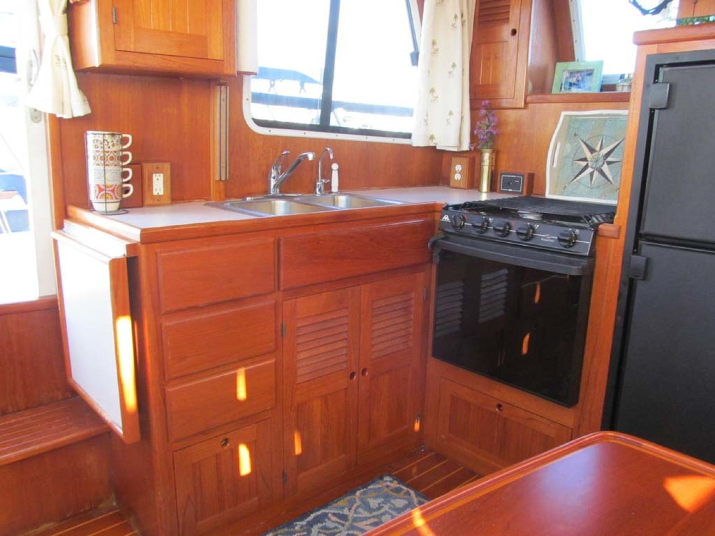 Monk-36 Trawler, Replaced Fuel Tanks 2003-One Fine Day New Bern-North Carolina-United States-Galley Lower Cabinets-1569150   Thumbnail