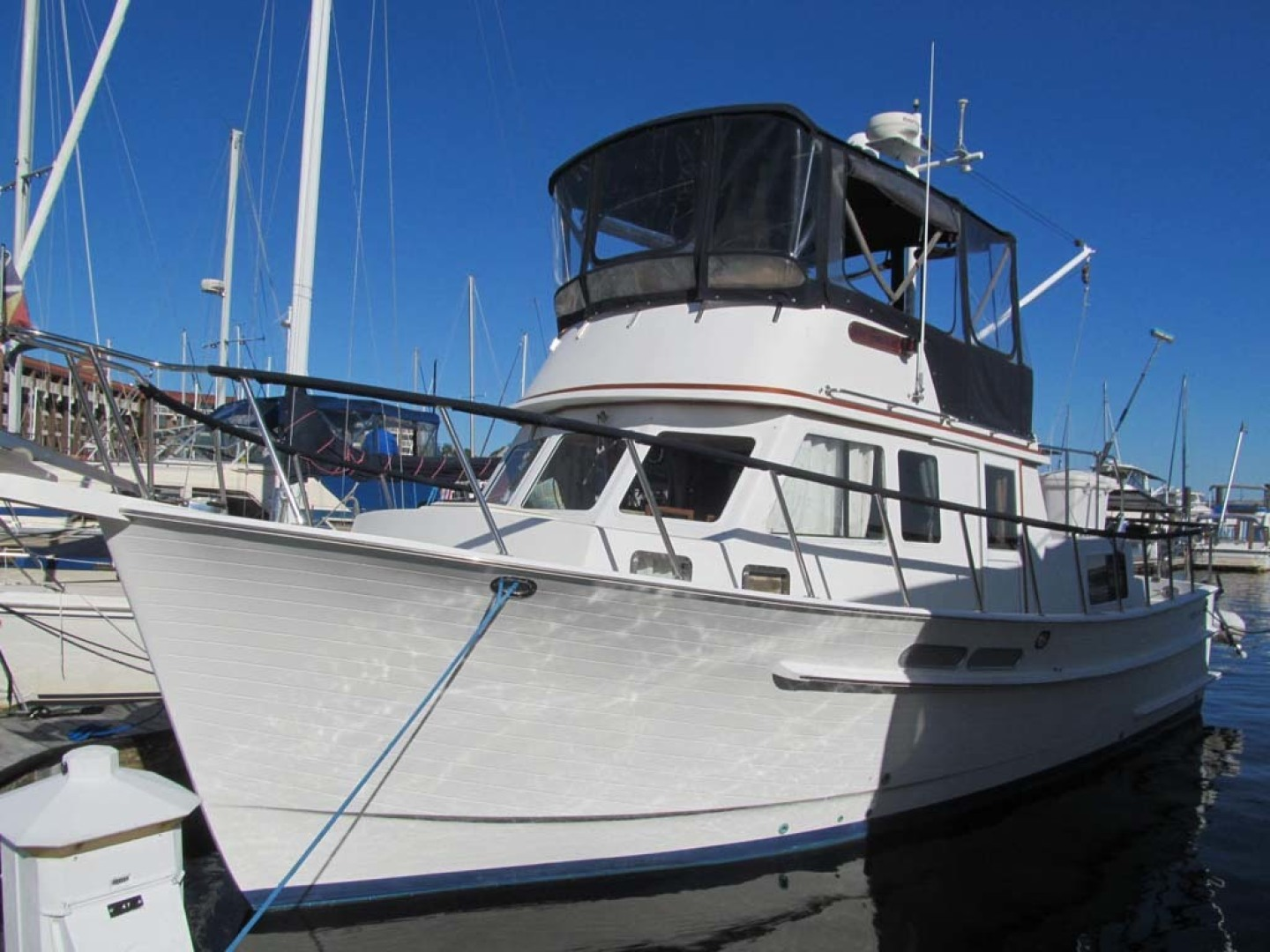 Monk-36 Trawler, Replaced Fuel Tanks 2003-One Fine Day New Bern-North Carolina-United States-Port Side-1569169   Thumbnail