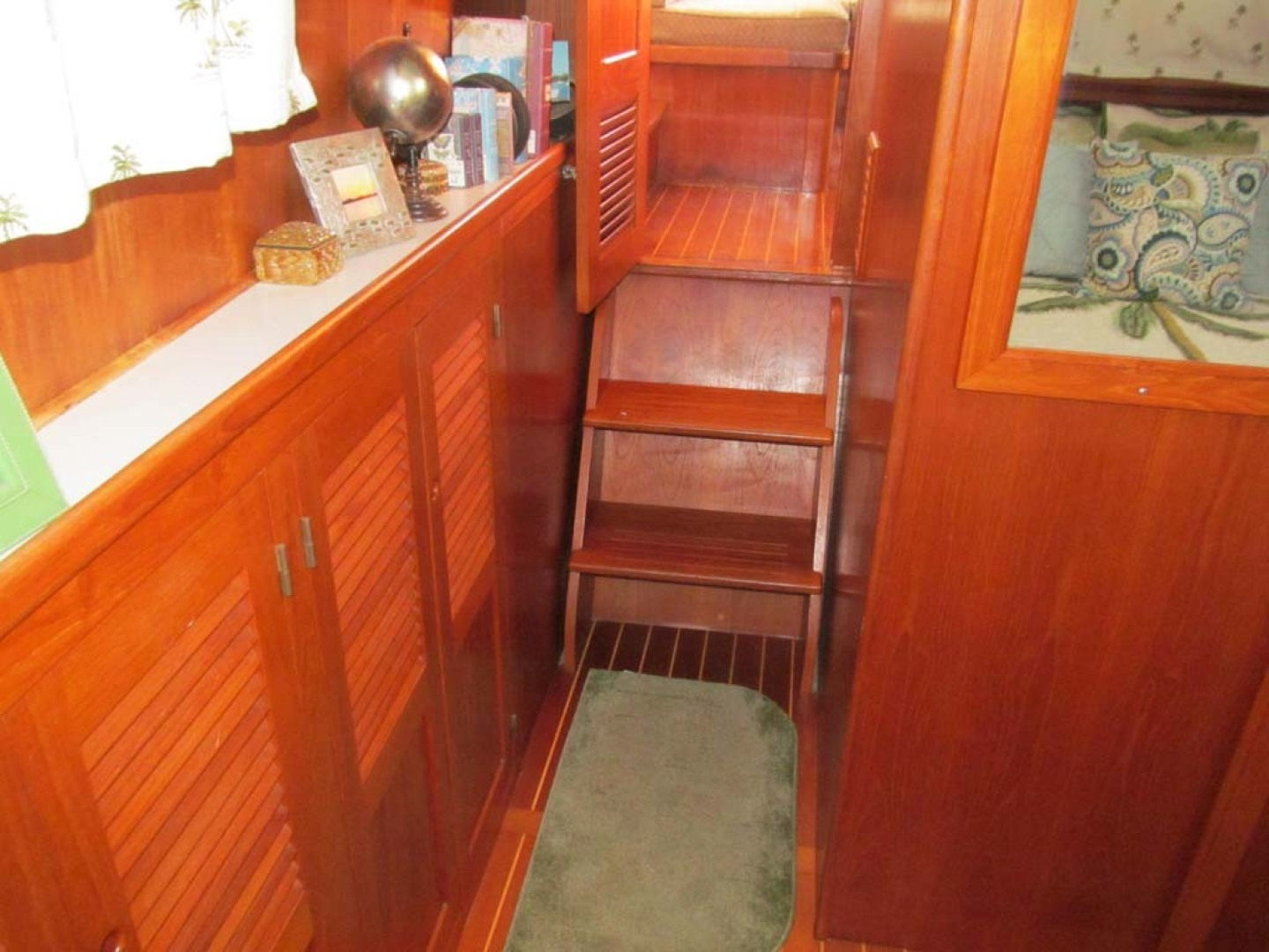 Monk-36 Trawler, Replaced Fuel Tanks 2003-One Fine Day New Bern-North Carolina-United States-Master Entry To Salon-1569153   Thumbnail
