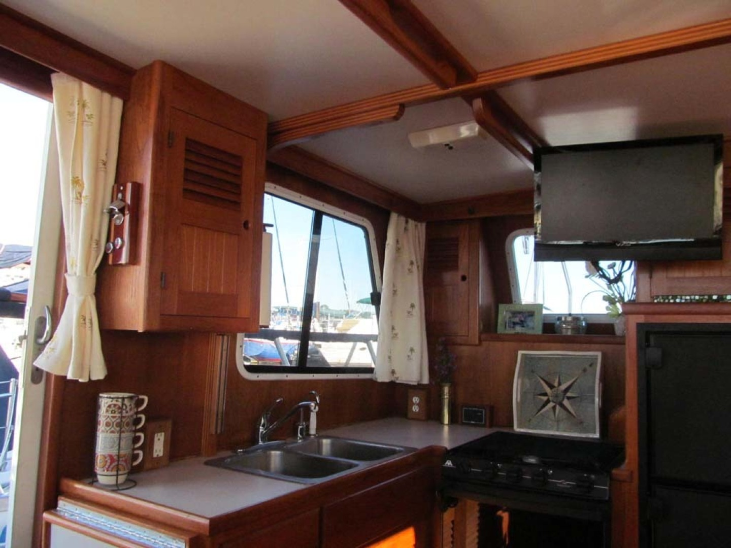 Monk-36 Trawler, Replaced Fuel Tanks 2003-One Fine Day New Bern-North Carolina-United States-Galley Upper Cabinets-1569151   Thumbnail