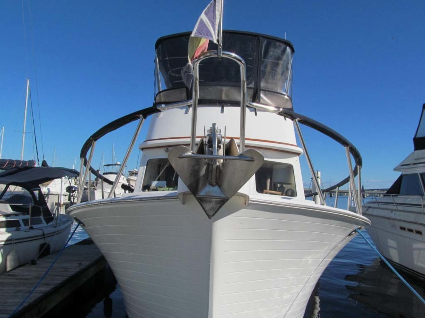 Monk-36 Trawler, Replaced Fuel Tanks 2003-One Fine Day New Bern-North Carolina-United States-Bow-1569168   Thumbnail