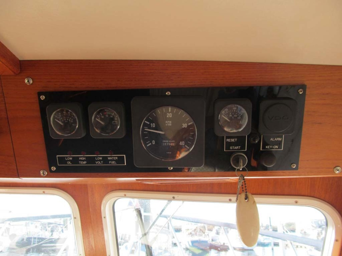 Monk-36 Trawler, Replaced Fuel Tanks 2003-One Fine Day New Bern-North Carolina-United States-Lower Helm Engine Gauges-1569143   Thumbnail