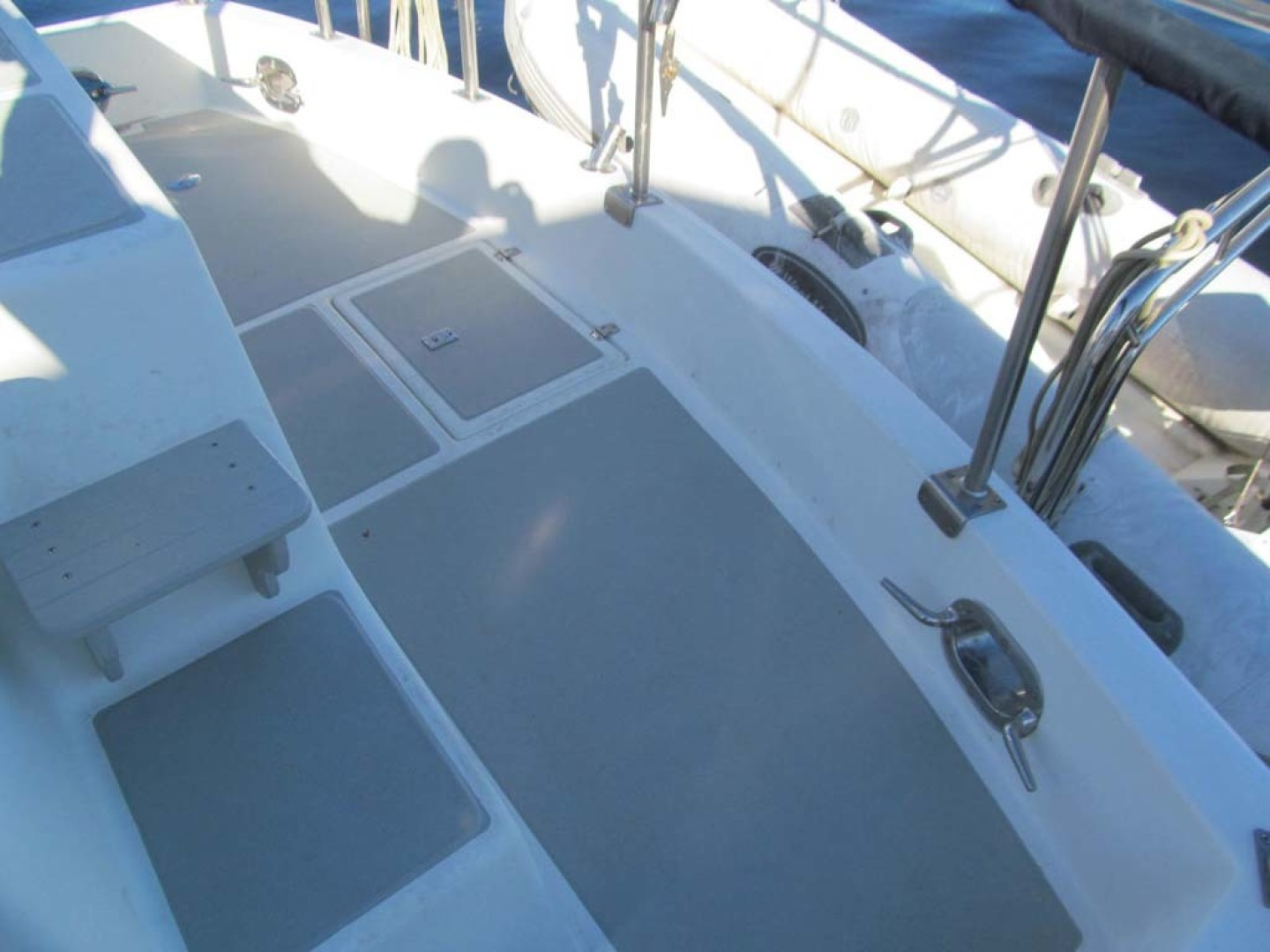 Monk-36 Trawler, Replaced Fuel Tanks 2003-One Fine Day New Bern-North Carolina-United States-Cockpit Deck-1569190   Thumbnail
