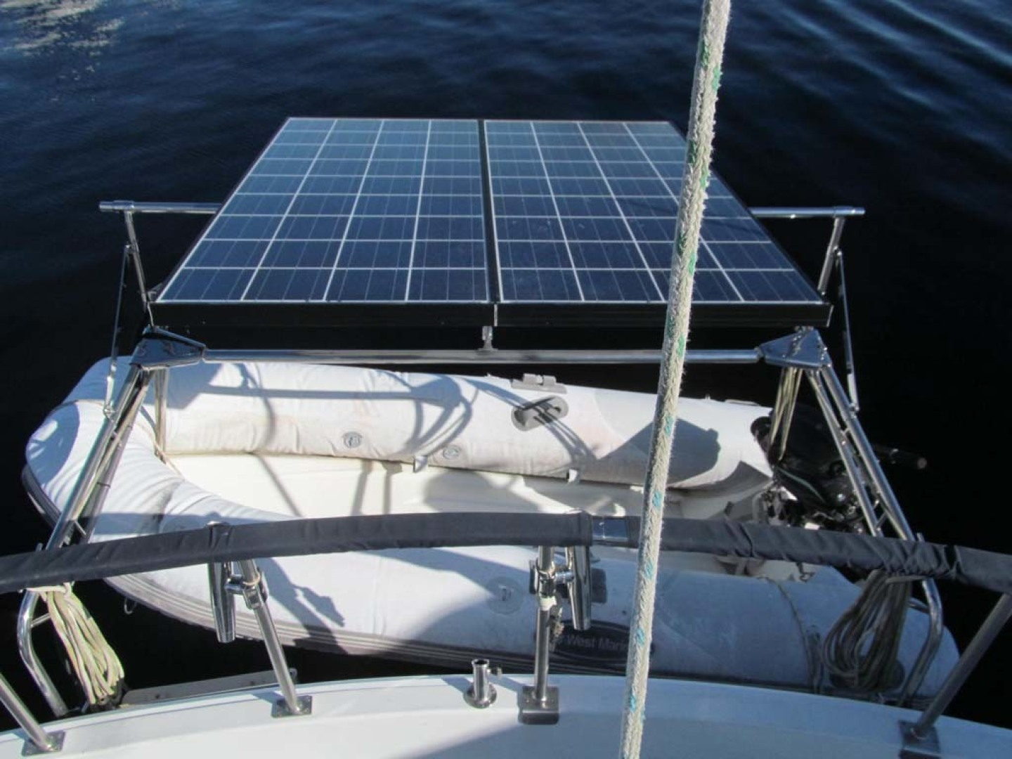 Monk-36 Trawler, Replaced Fuel Tanks 2003-One Fine Day New Bern-North Carolina-United States-Davits And Solar-1569191   Thumbnail