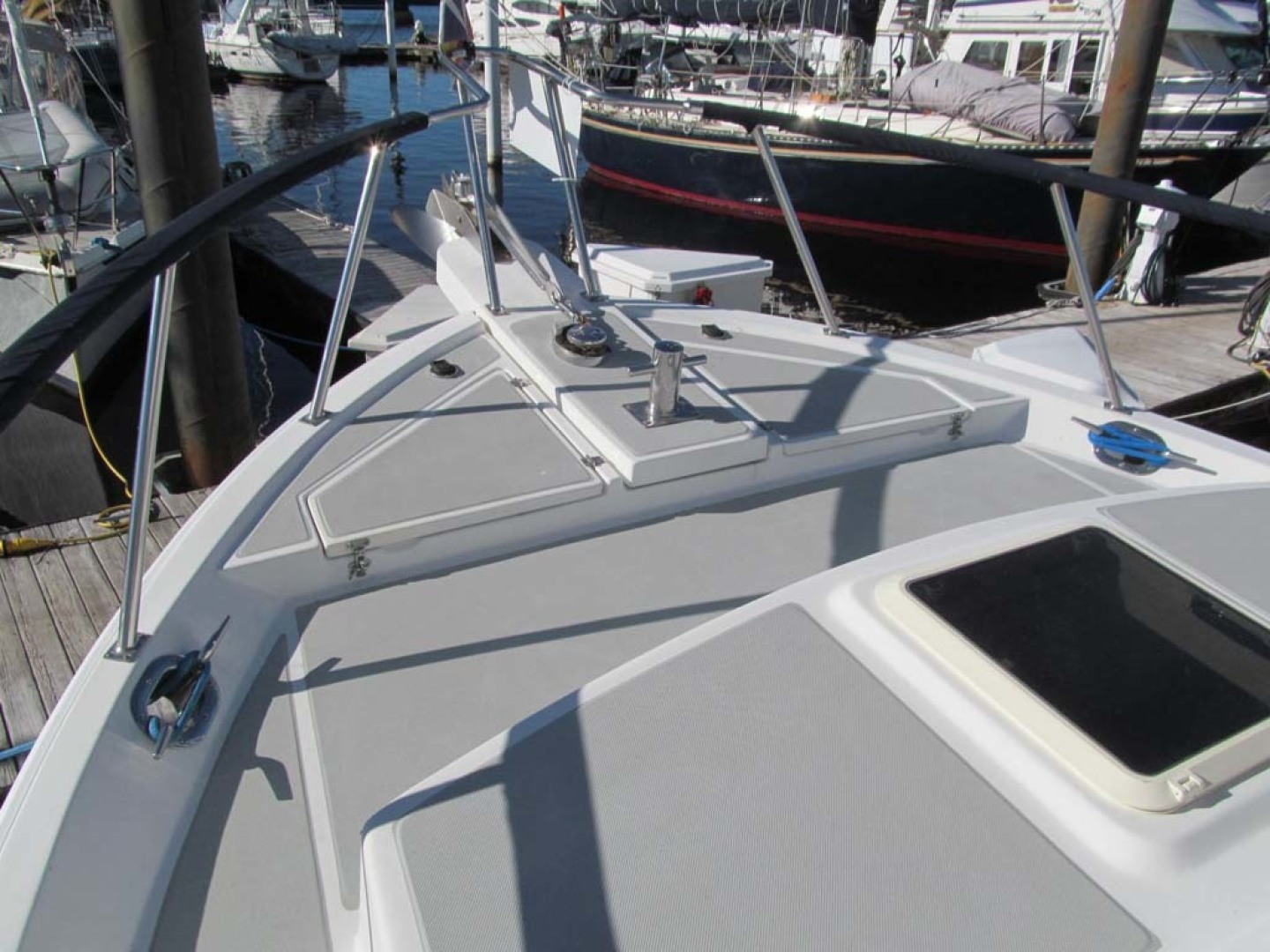 Monk-36 Trawler, Replaced Fuel Tanks 2003-One Fine Day New Bern-North Carolina-United States-Bow Deck Port-1569172   Thumbnail