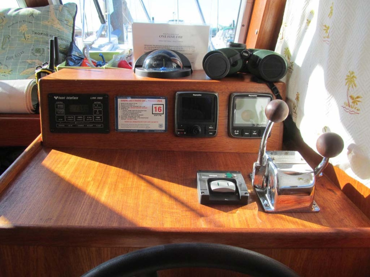 Monk-36 Trawler, Replaced Fuel Tanks 2003-One Fine Day New Bern-North Carolina-United States-Lower Helm Controls-1569142   Thumbnail