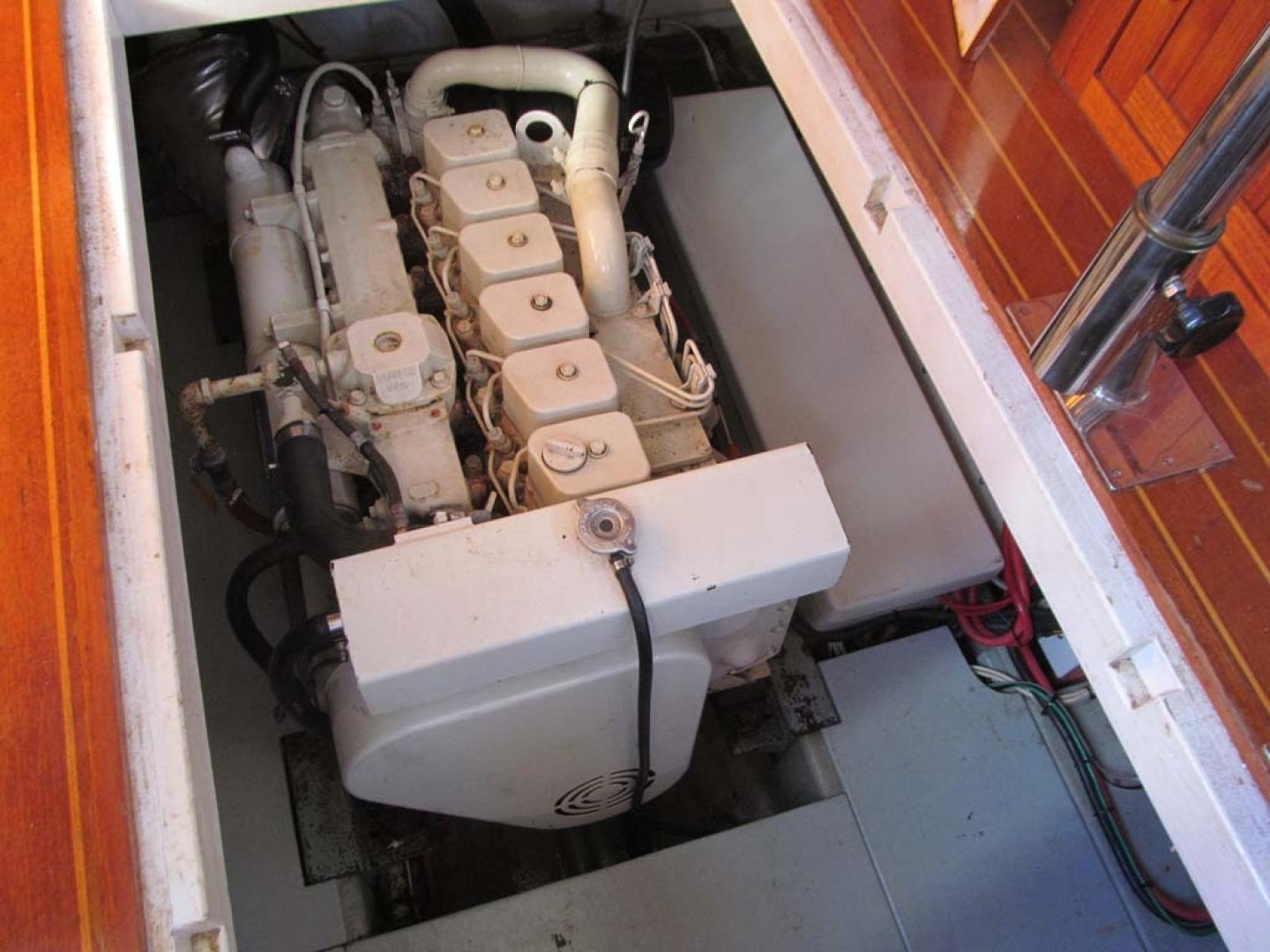 Monk-36 Trawler, Replaced Fuel Tanks 2003-One Fine Day New Bern-North Carolina-United States-Engine-1569192   Thumbnail