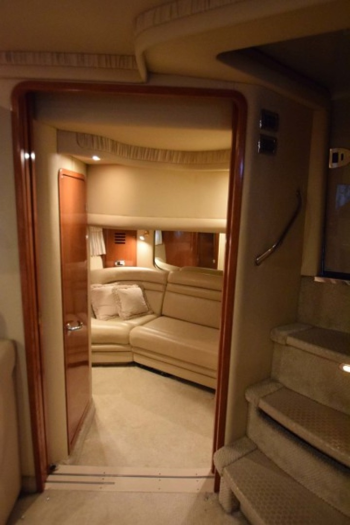 Sea Ray-460 Sundancer 2002-The Payoff Key Biscayne-Florida-United States-View into Guest Room with Sliding Doors-1569318 | Thumbnail