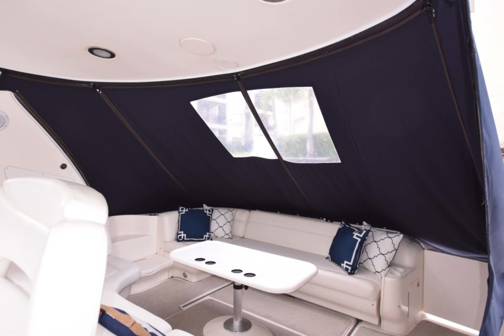 Sea Ray-460 Sundancer 2002-The Payoff Key Biscayne-Florida-United States-Cockpit Seating with Canvas-1569342 | Thumbnail