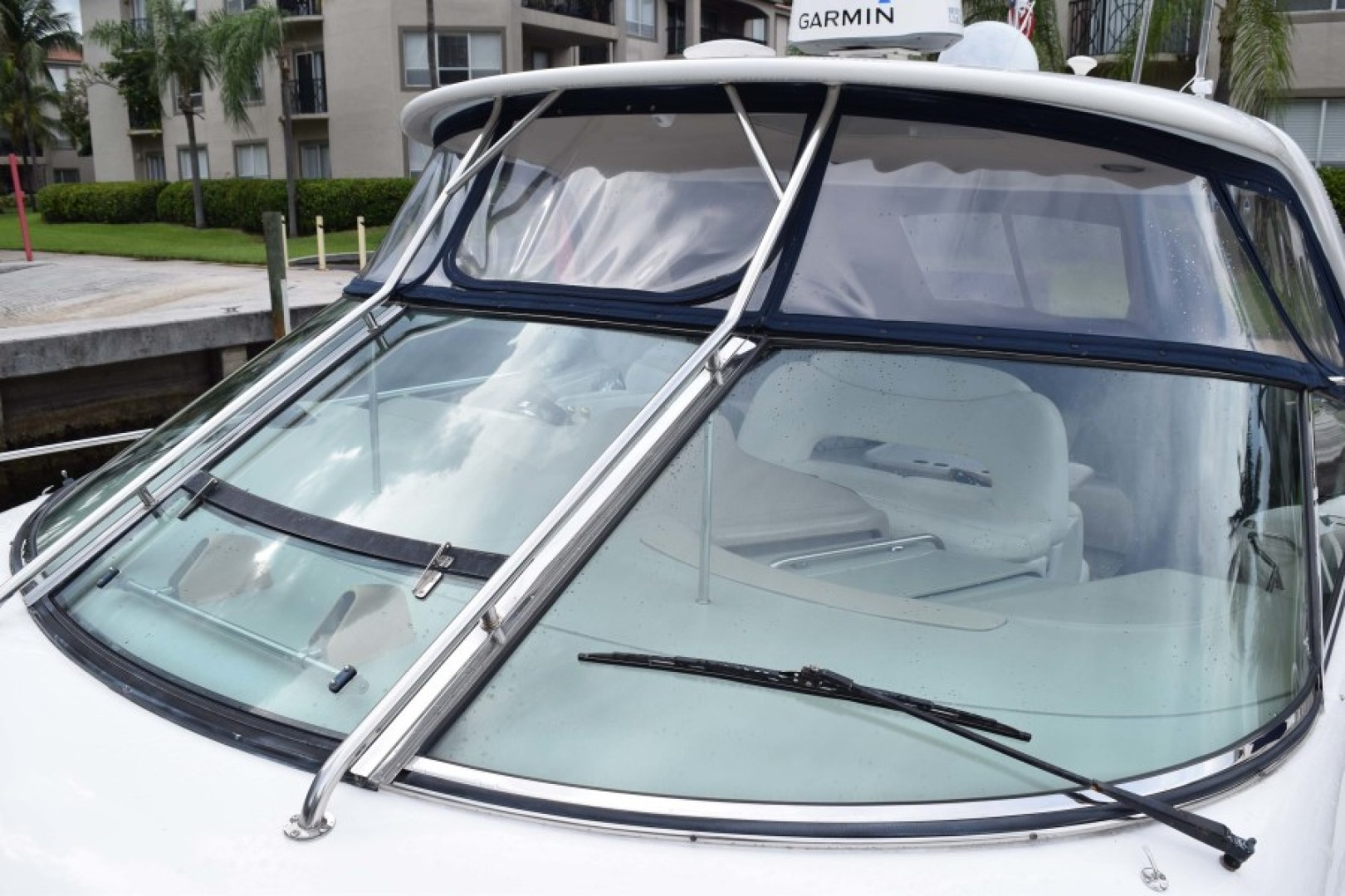 Sea Ray-460 Sundancer 2002-The Payoff Key Biscayne-Florida-United States-Isinglass and Windchield Detail-1569329 | Thumbnail
