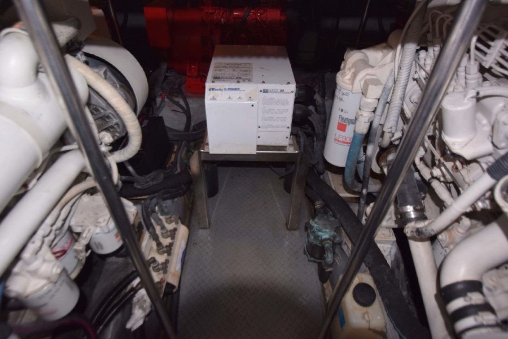 Sea Ray-460 Sundancer 2002-The Payoff Key Biscayne-Florida-United States-Engine Room View to Aft-1569345 | Thumbnail