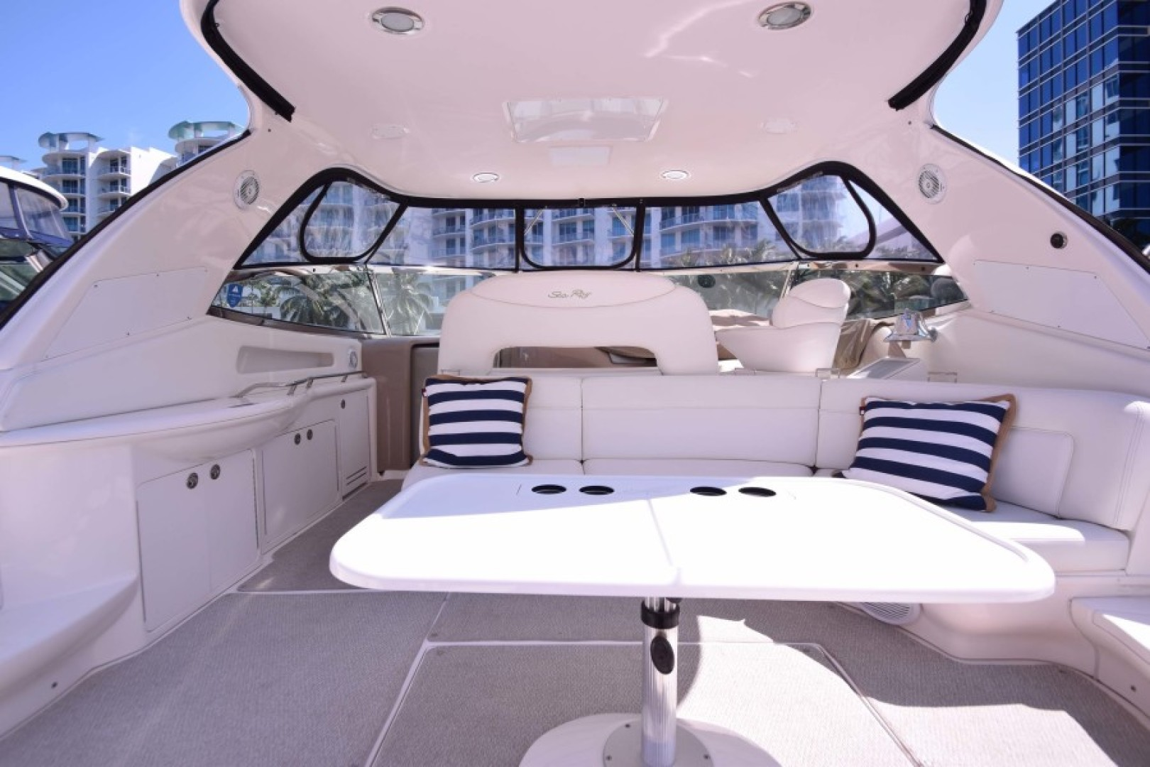 Sea Ray-460 Sundancer 2002-The Payoff Key Biscayne-Florida-United States-Cockpit to Helm View-1569339 | Thumbnail