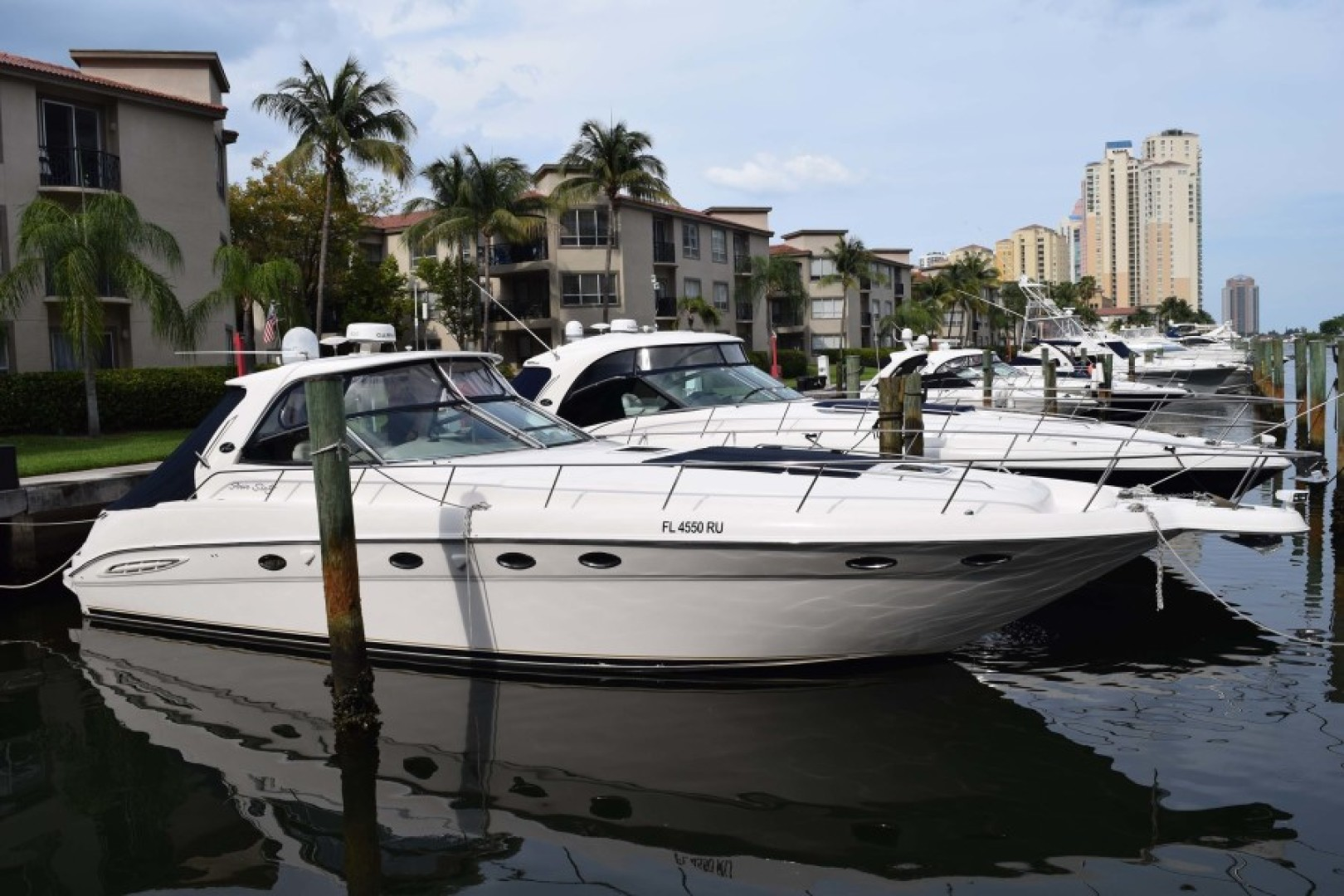 Sea Ray-460 Sundancer 2002-The Payoff Key Biscayne-Florida-United States-STBD Side View-1569352 | Thumbnail