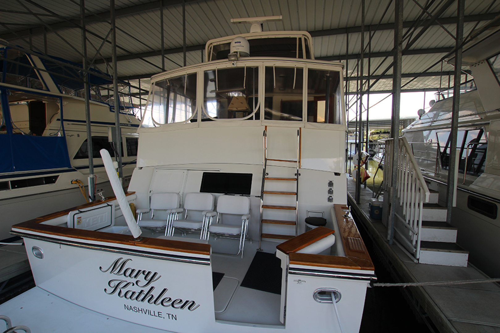 Californian-52 Cockpit Motor Yacht 1991-MARY KATHLEEN Mount Juliet-Tennessee-United States-Stern-1574733 | Thumbnail