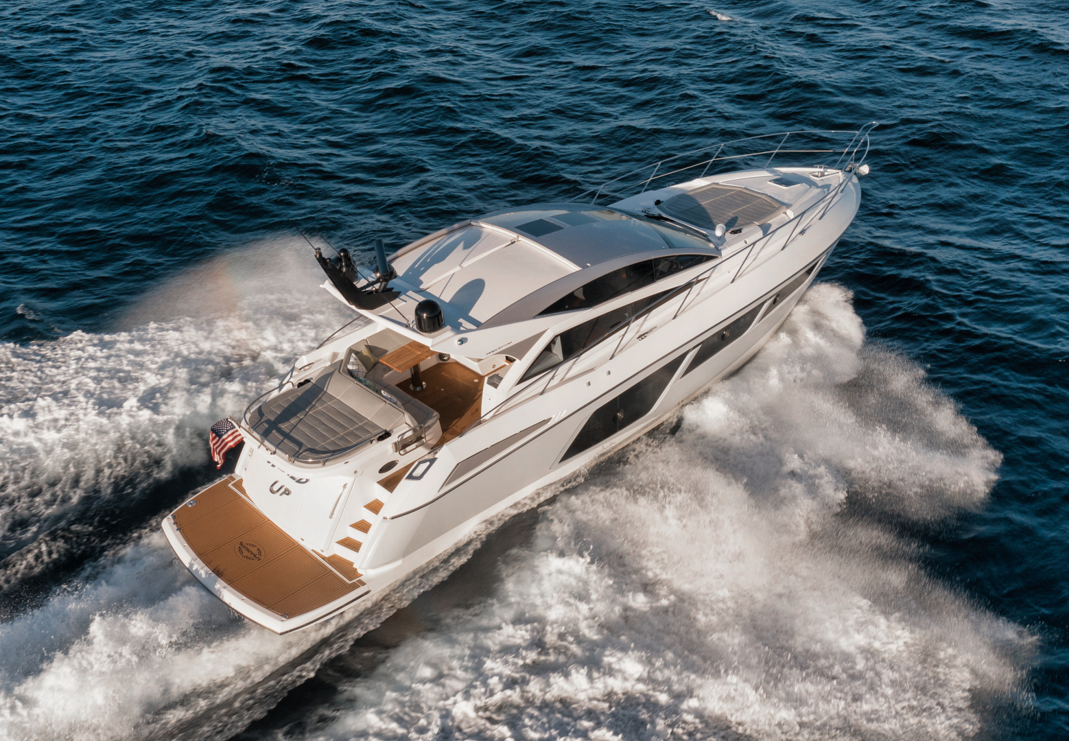 Sunseeker-Predator 2016-Wired Up Fort Lauderdale-Florida-United States-Starboard Aerial Profile-1585620 | Thumbnail