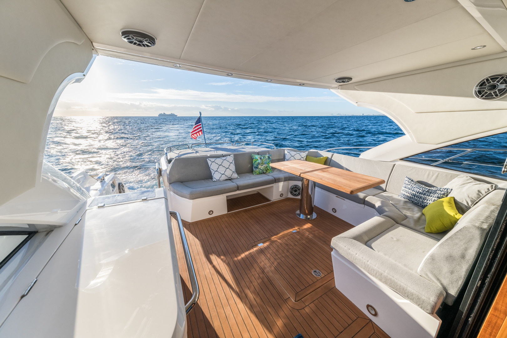 Sunseeker-Predator 2016-Wired Up Fort Lauderdale-Florida-United States-Aft Deck Lounge -1585644 | Thumbnail