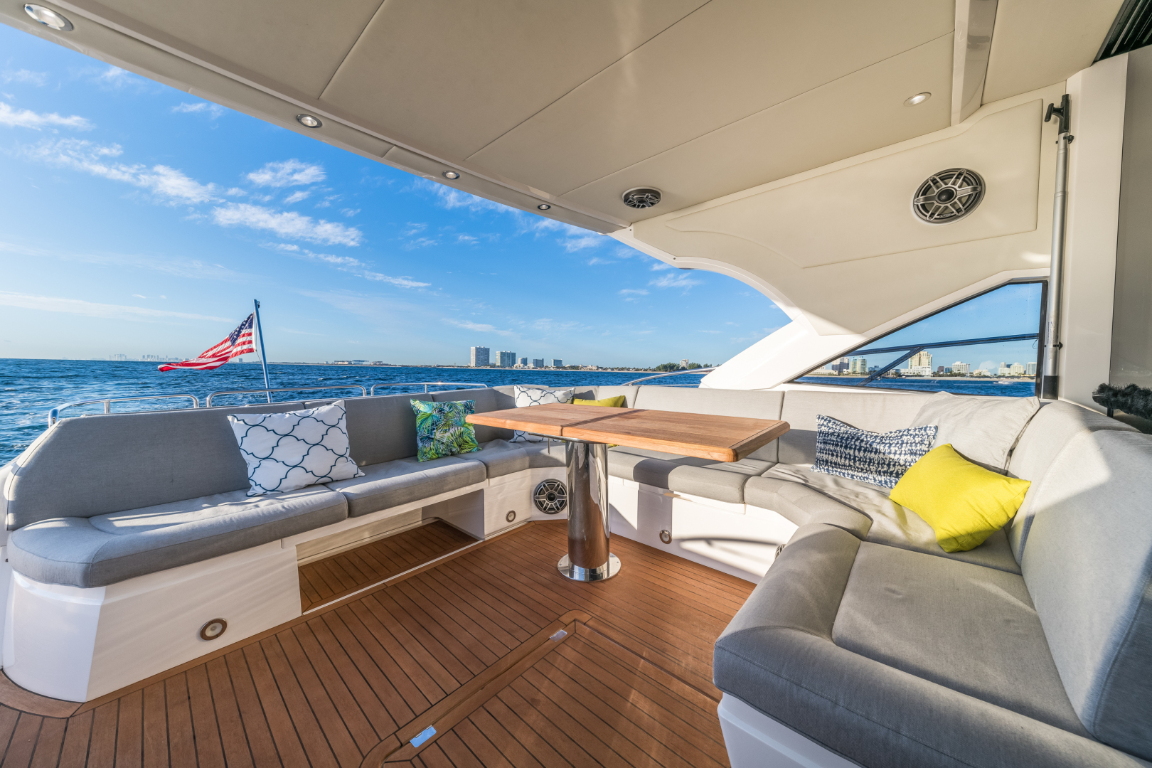 Sunseeker-Predator 2016-Wired Up Fort Lauderdale-Florida-United States-Aft Deck Seating-1585651 | Thumbnail
