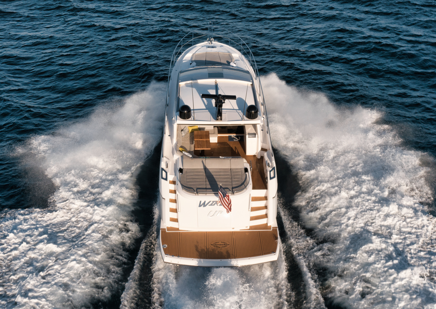 Sunseeker-Predator 2016-Wired Up Fort Lauderdale-Florida-United States-Aft Aerial Profile-1585622 | Thumbnail