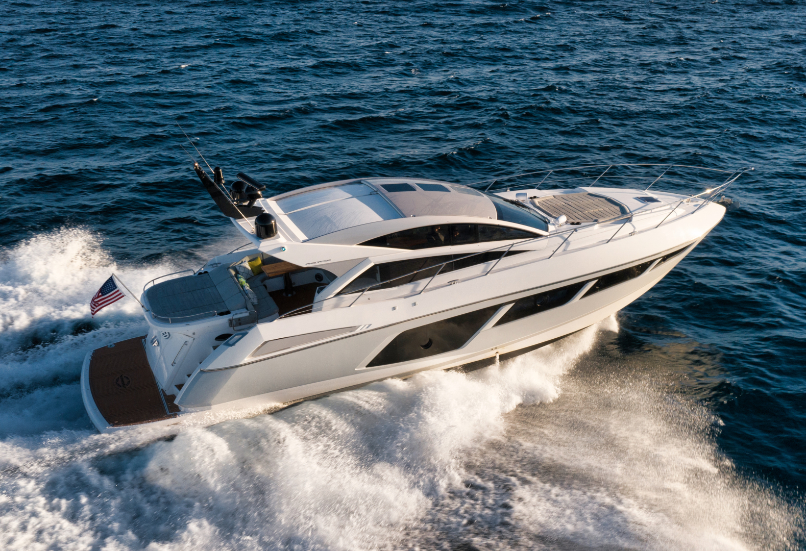 Sunseeker-Predator 2016-Wired Up Fort Lauderdale-Florida-United States-Startboard Aerial Profile-1585463 | Thumbnail