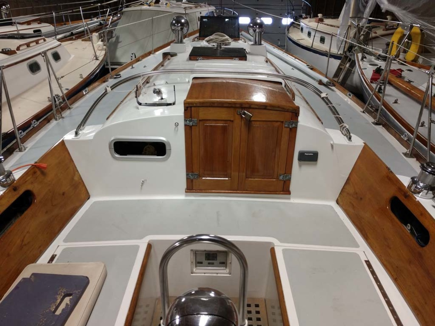 Hinckley-Bermuda 40 Yawl 1970-Rhodora South Berwick-Maine-United States-Cockpit Looking Forward-1585575 | Thumbnail