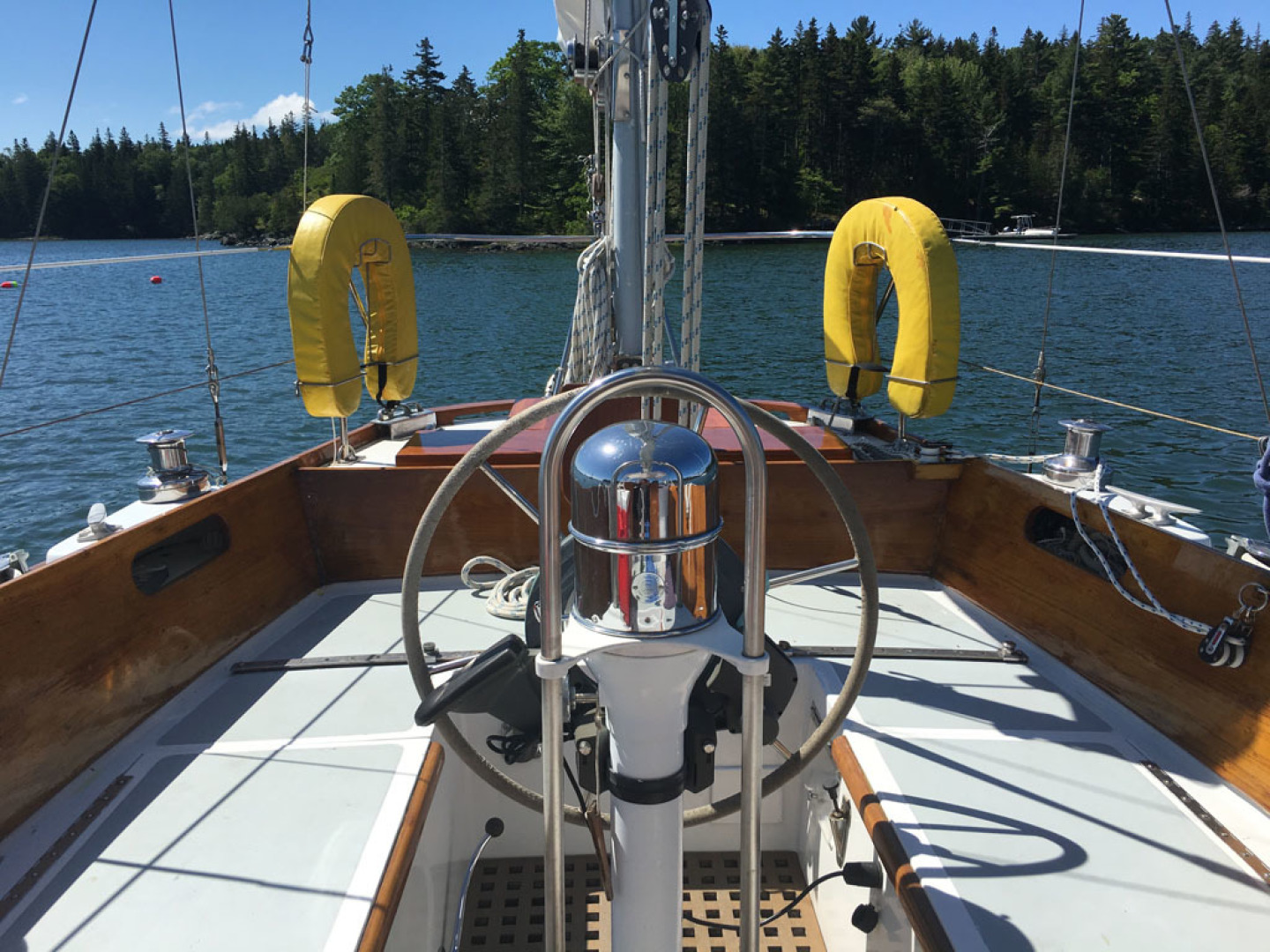 Hinckley-Bermuda 40 Yawl 1970-Rhodora South Berwick-Maine-United States-Cockpit Looking Aft-1588062 | Thumbnail