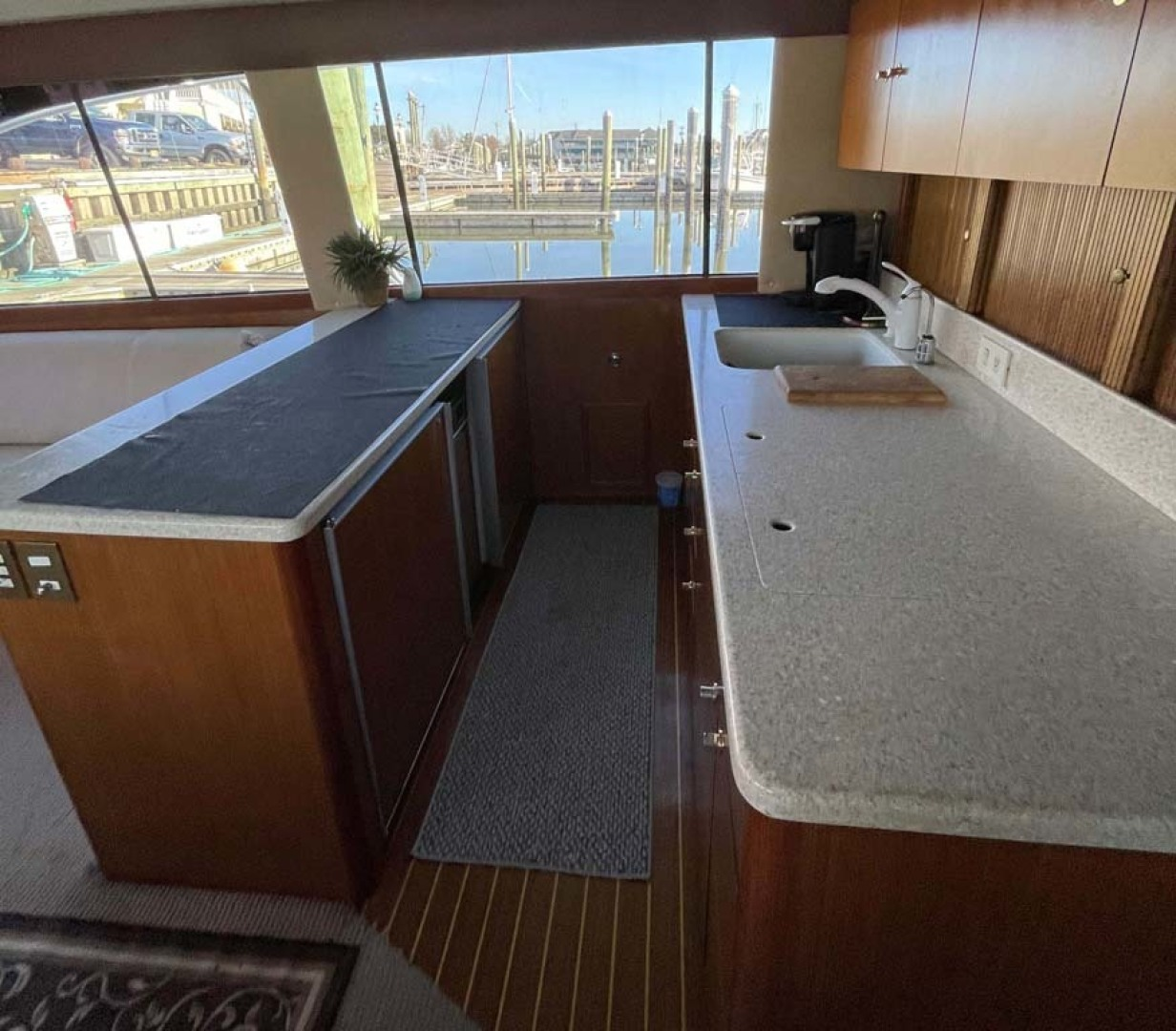 Ocean Yachts-Super Sport 1998-MJs Cape May-New Jersey-United States-Galley with SubZero Refrigerator and Freezer-1586484 | Thumbnail