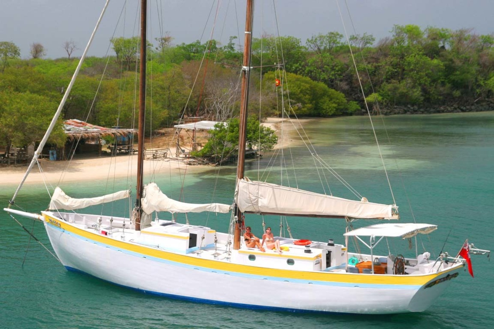 Custom-Schooner 2002-Jambalaya Saint Georges-Grenada-At Anchor-1596026 | Thumbnail