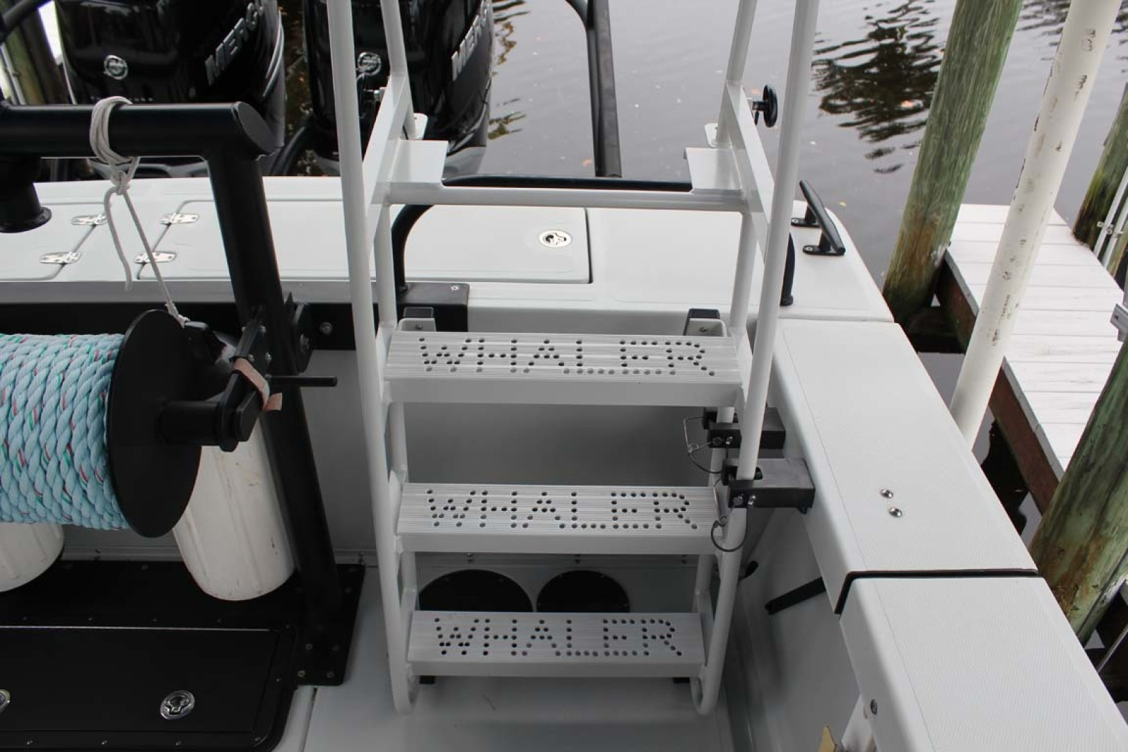 Boston Whaler-Challenger 2016-Rescue 3 Cape Coral-Florida-United States-Powder Coated Dive Ladder-1596502 | Thumbnail