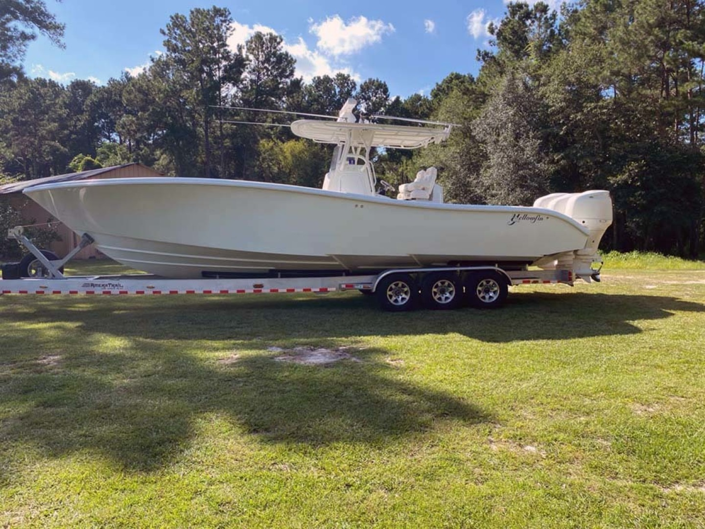 Yellowfin-Center Console 2005-Depth Collector Lenox-Georgia-United States-Port Profile On Trailer-1598812 | Thumbnail