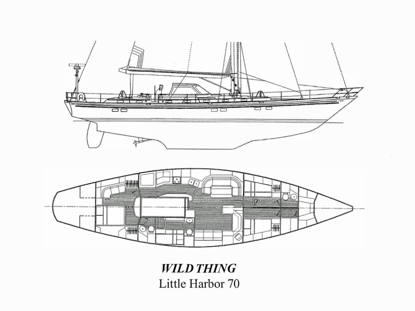 Little Harbor-70 1995-WILD THING Portsmouth-Rhode Island-United States-Layout Drawing-1600945 | Thumbnail