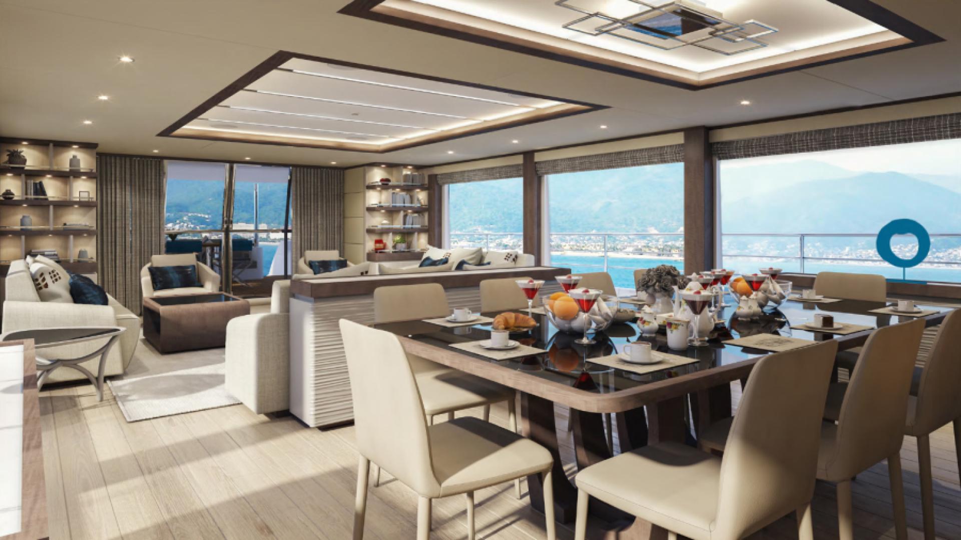 Majesty Yachts-Majesty 100 2022-MAJESTY 100 United Arab Emirates-Dining-1604952