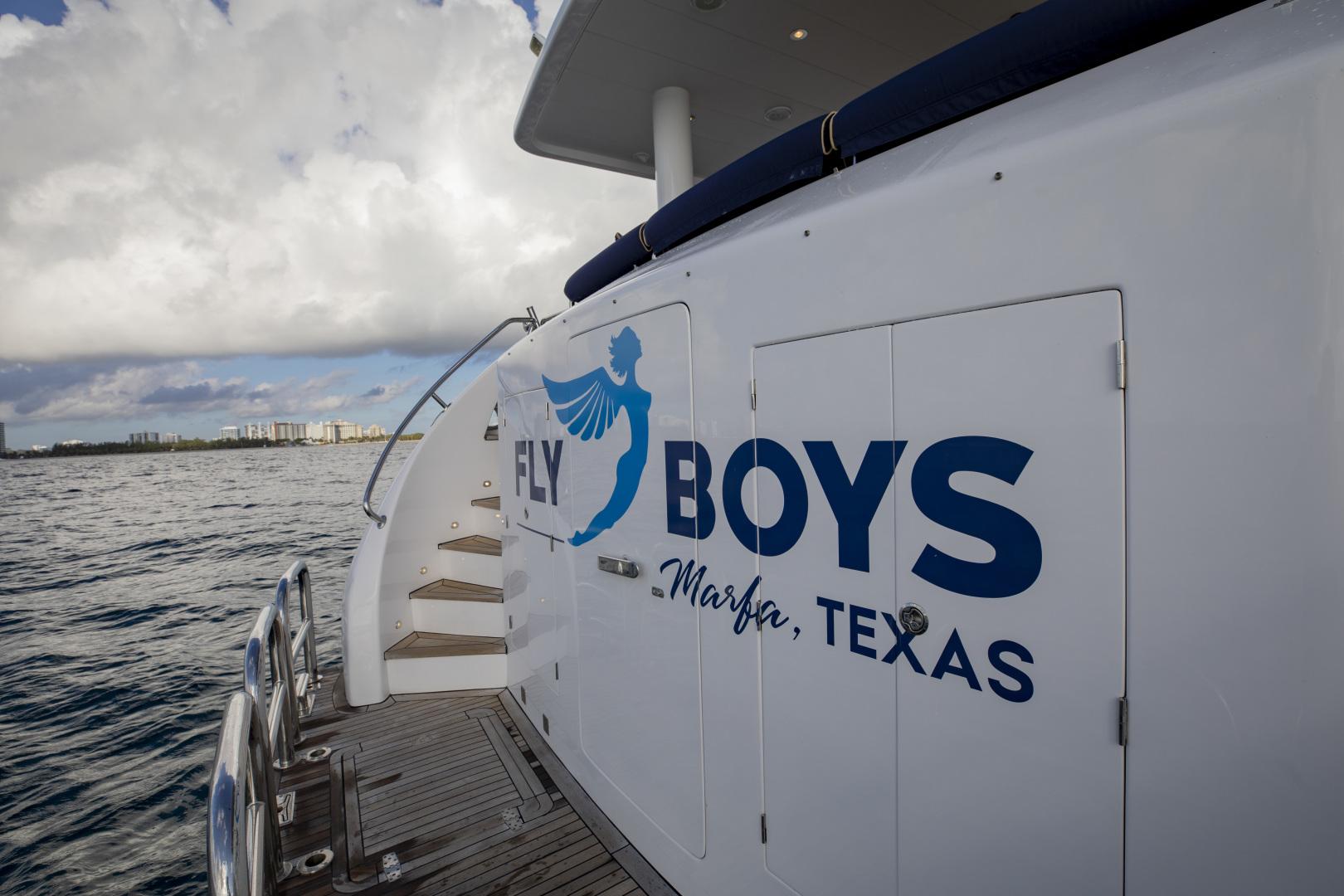 Hargrave-Raised Pilothouse 2002-FLY BOYS Fort Lauderdale-Florida-United States-Swim platform-1627228 | Thumbnail