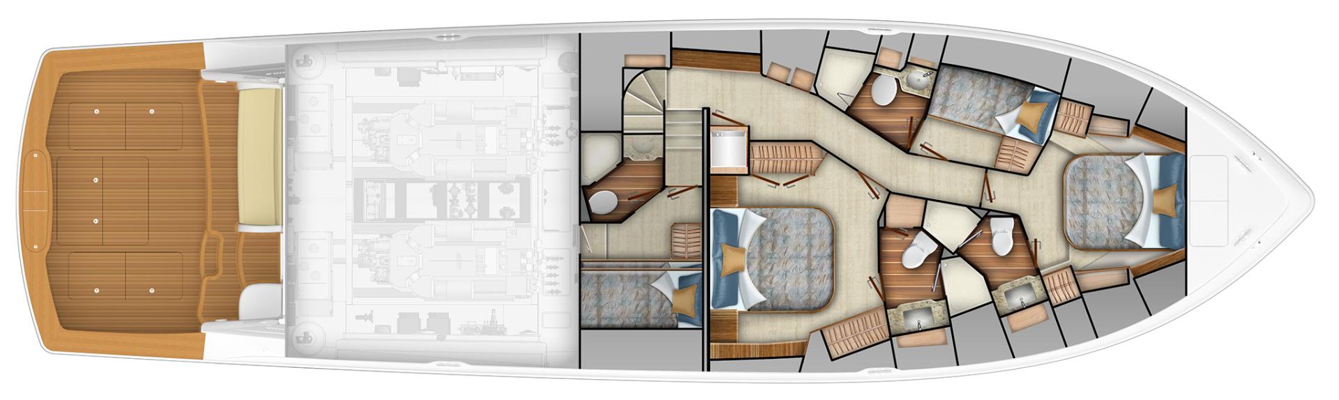 Viking 68 - Option #1 Stateroom Layout