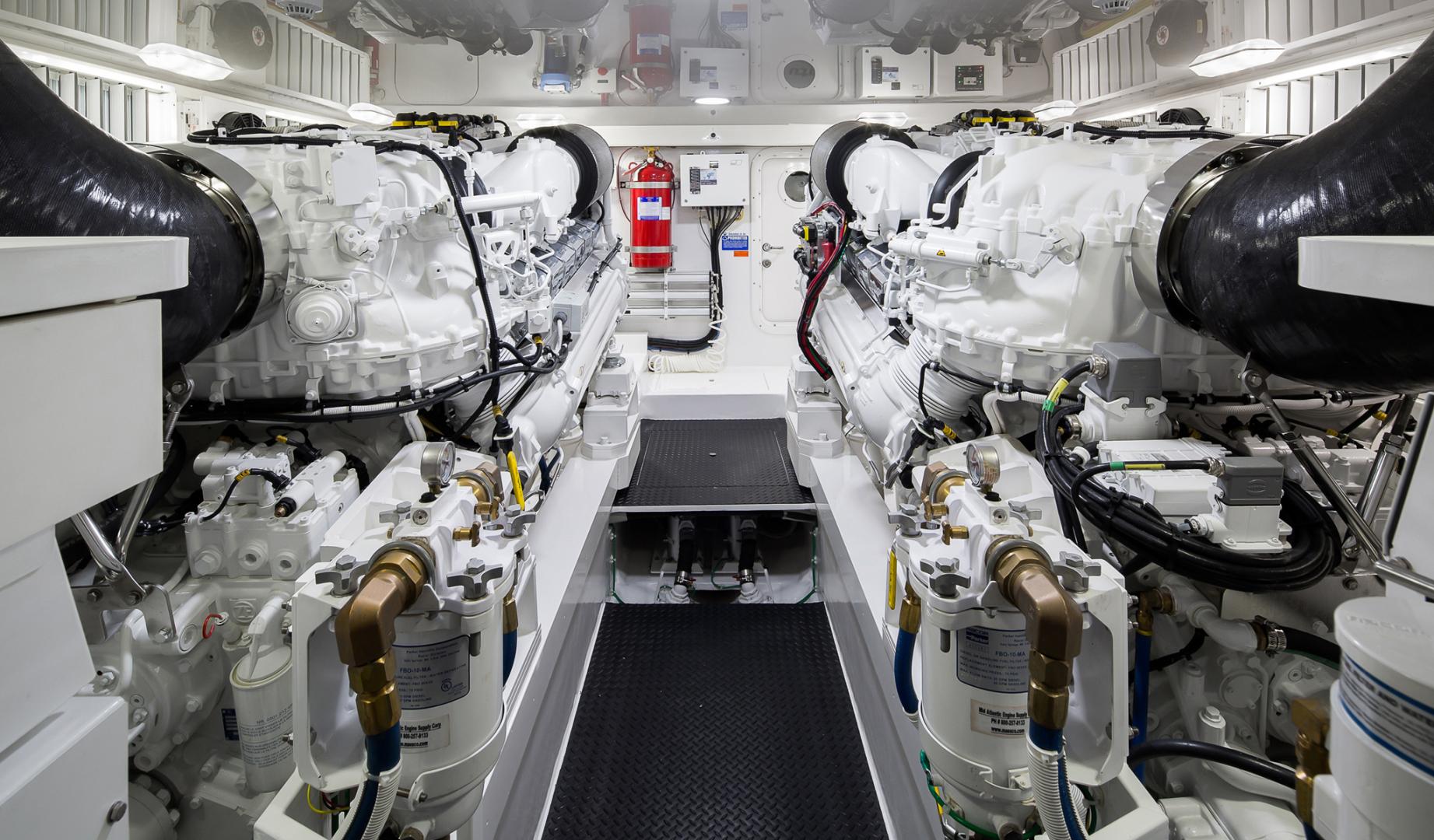 Viking 68 - Engine Room