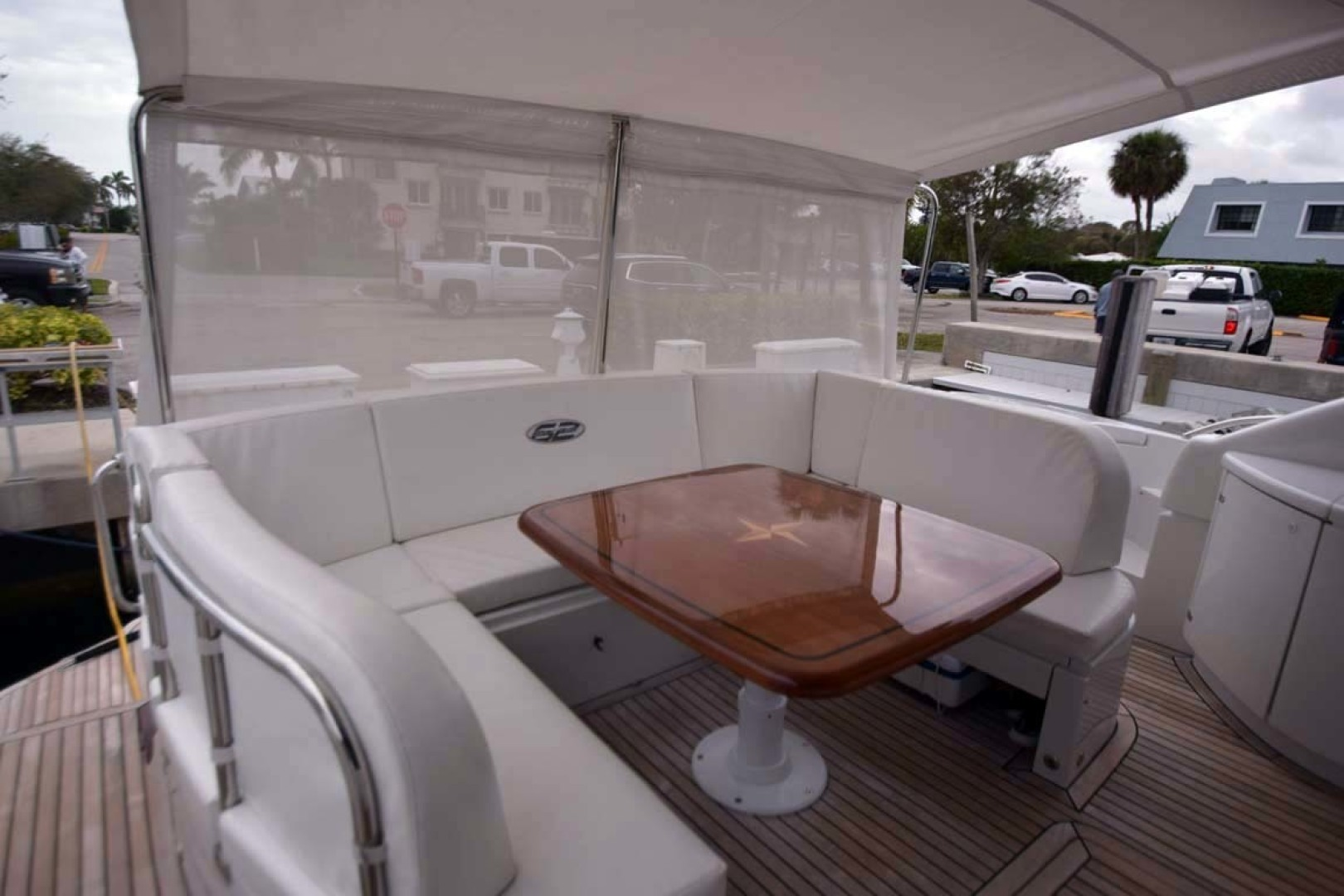 Pershing-62 2007-CHOPIN Lighthouse Point-Florida-United States Aft Deck Dining From STBD Side-1625743 | Thumbnail