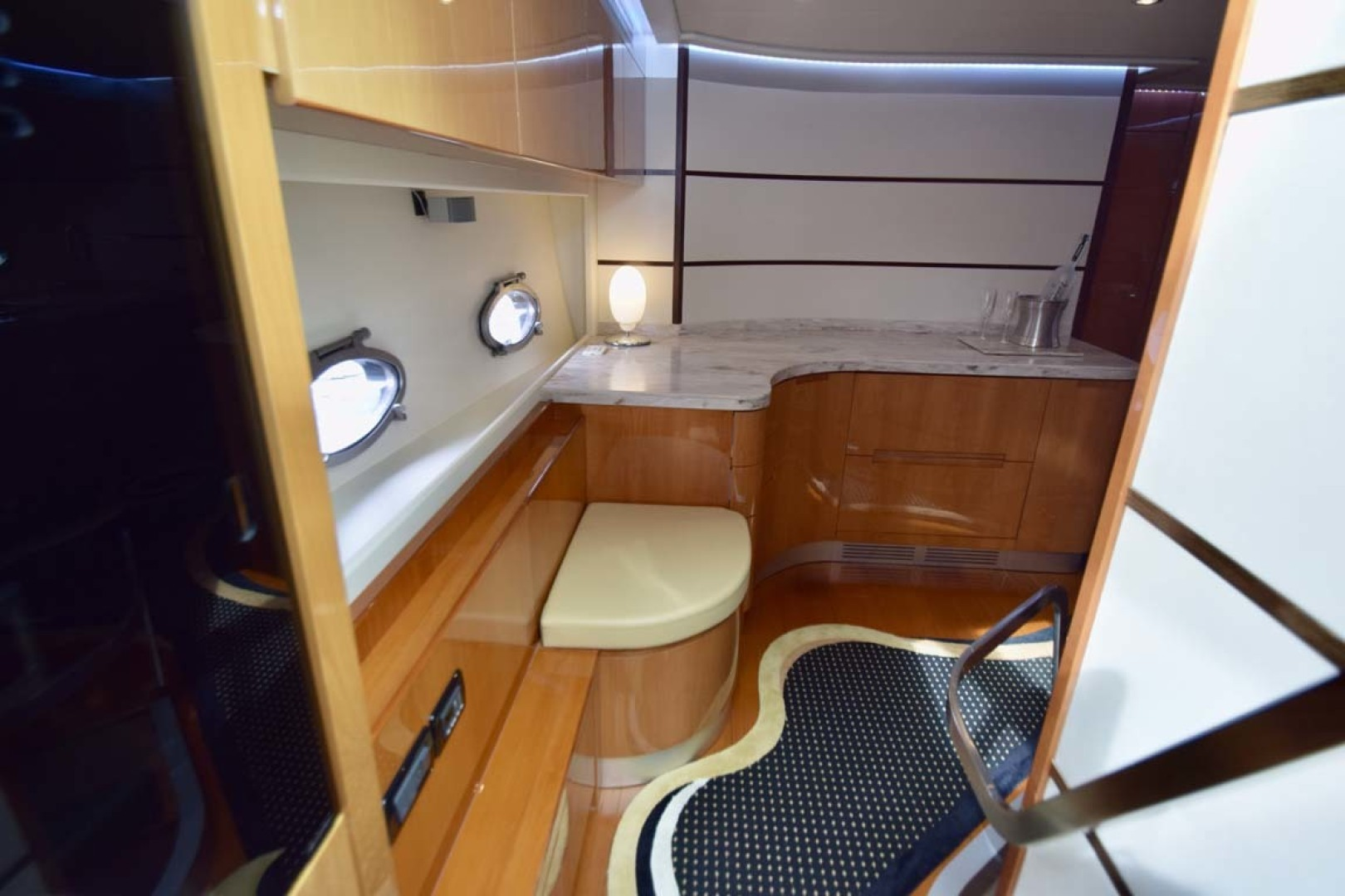 Pershing-62 2007-CHOPIN Lighthouse Point-Florida-United States-Entry Into Galley From Top Deck Salon-1625724 | Thumbnail