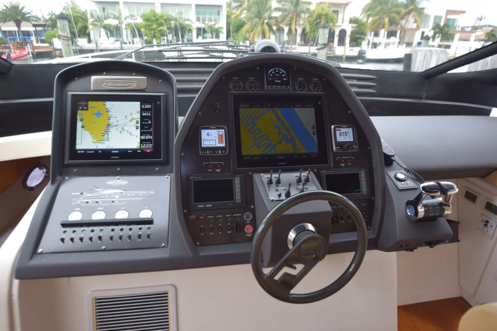 Pershing-62 2007-CHOPIN Lighthouse Point-Florida-United States Helm View From Helm Seat-1625713 | Thumbnail