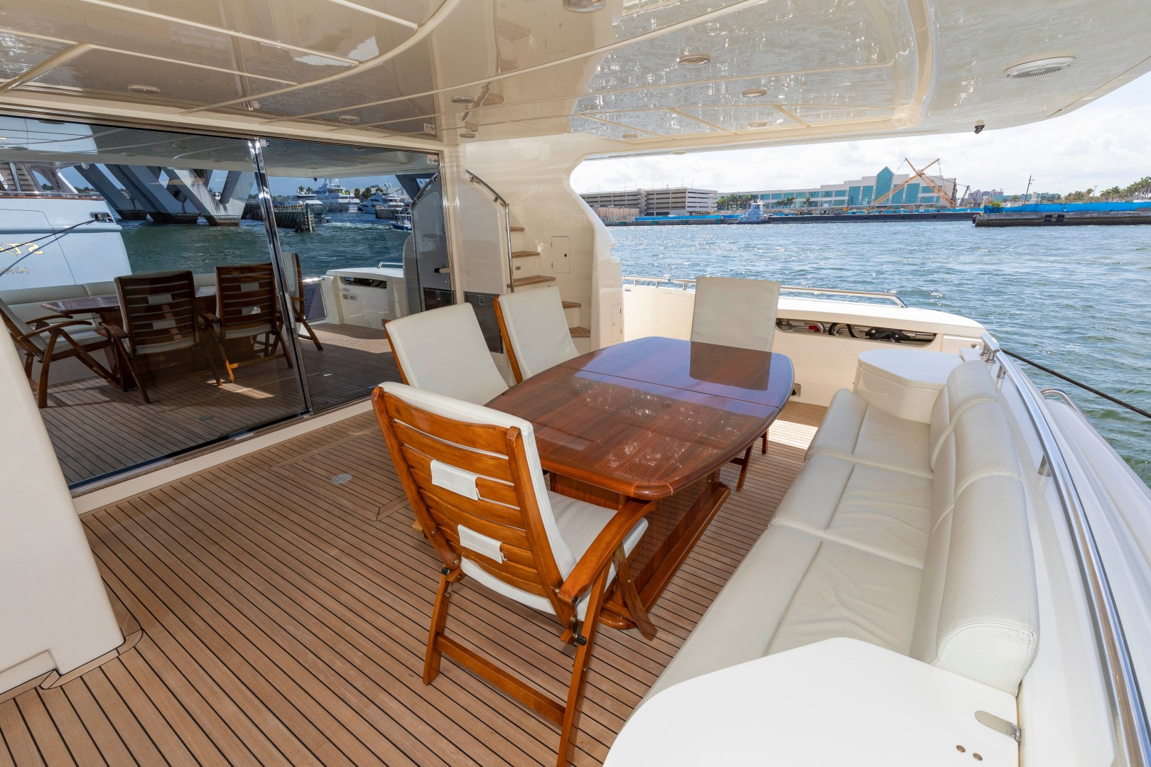 Ferretti Yachts-830HT 2010-MI RX Fort Lauderdale-Florida-United States-Aft Seating-1644667 | Thumbnail
