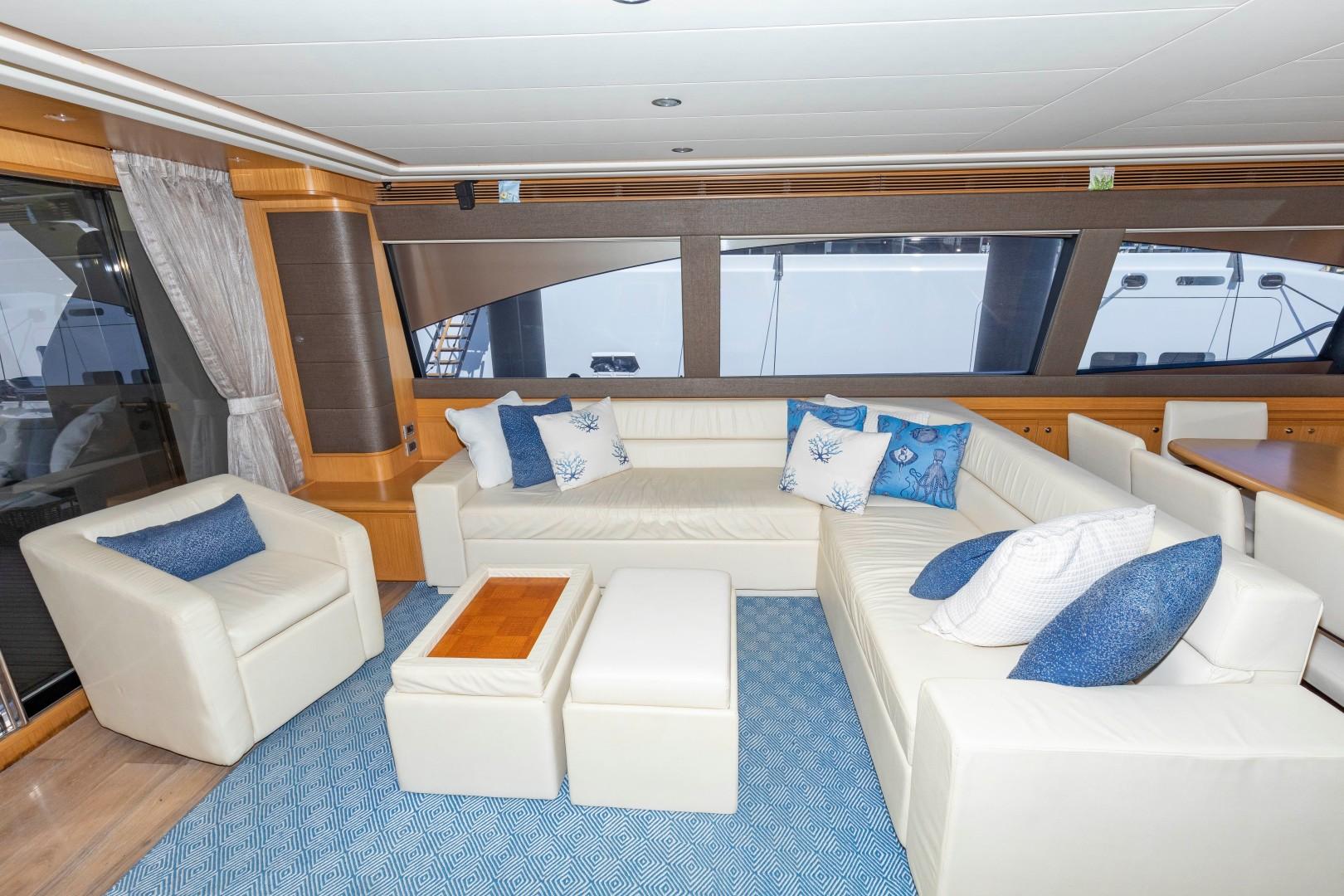 Ferretti Yachts-830HT 2010-MI RX Fort Lauderdale-Florida-United States-Salon Seating-1644662 | Thumbnail