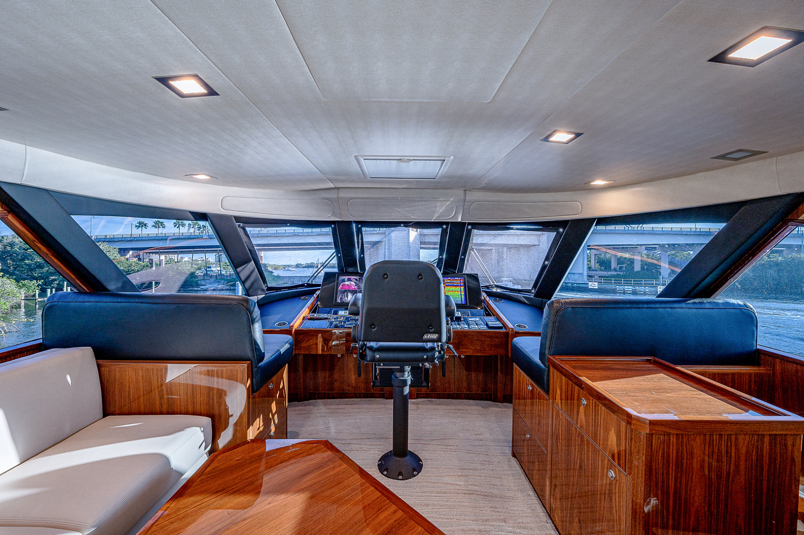 Viking 72 - Three's Enough - Helm and Seating