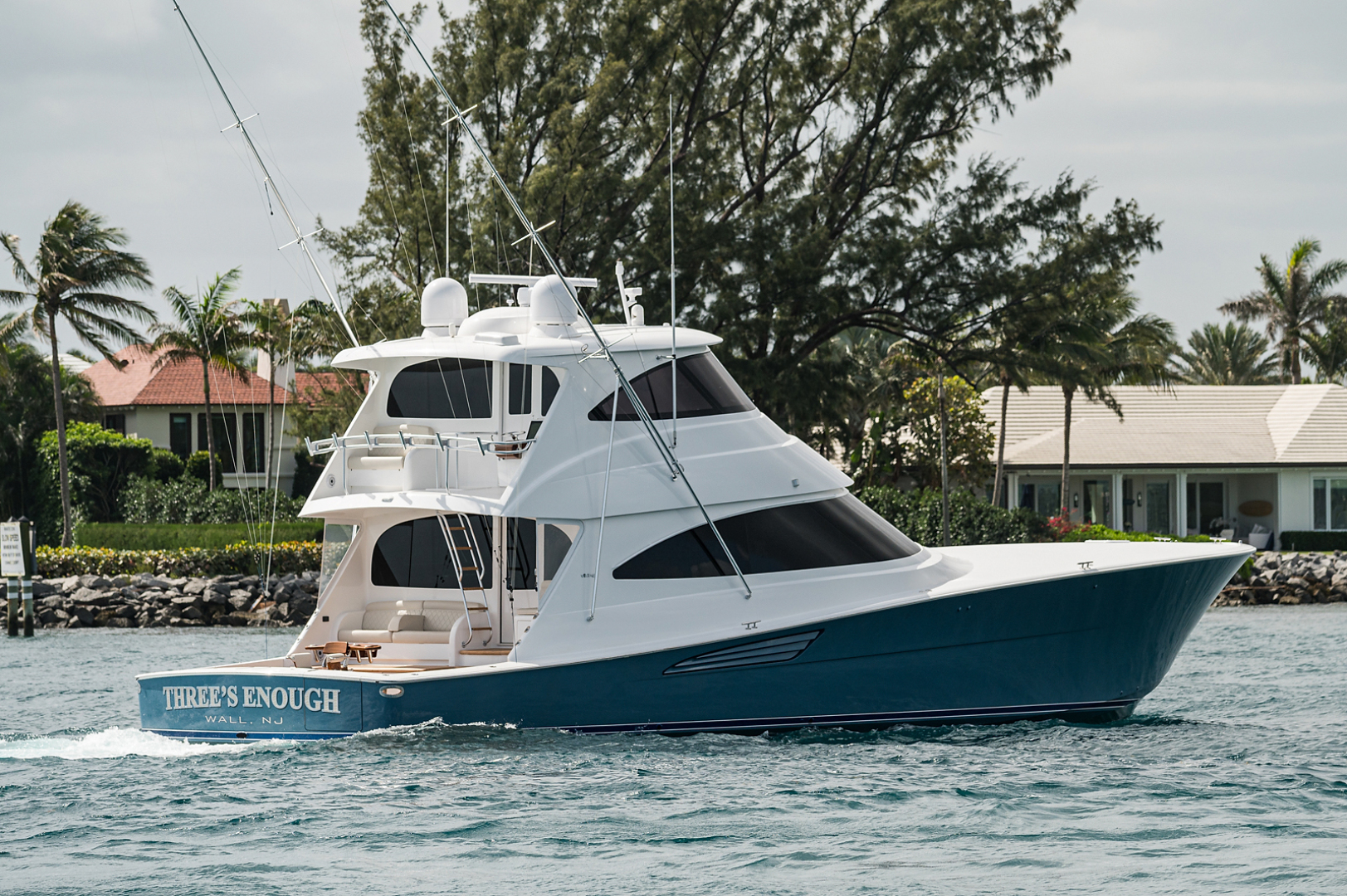 Viking 72 - Three's Enough - Exterior Profile