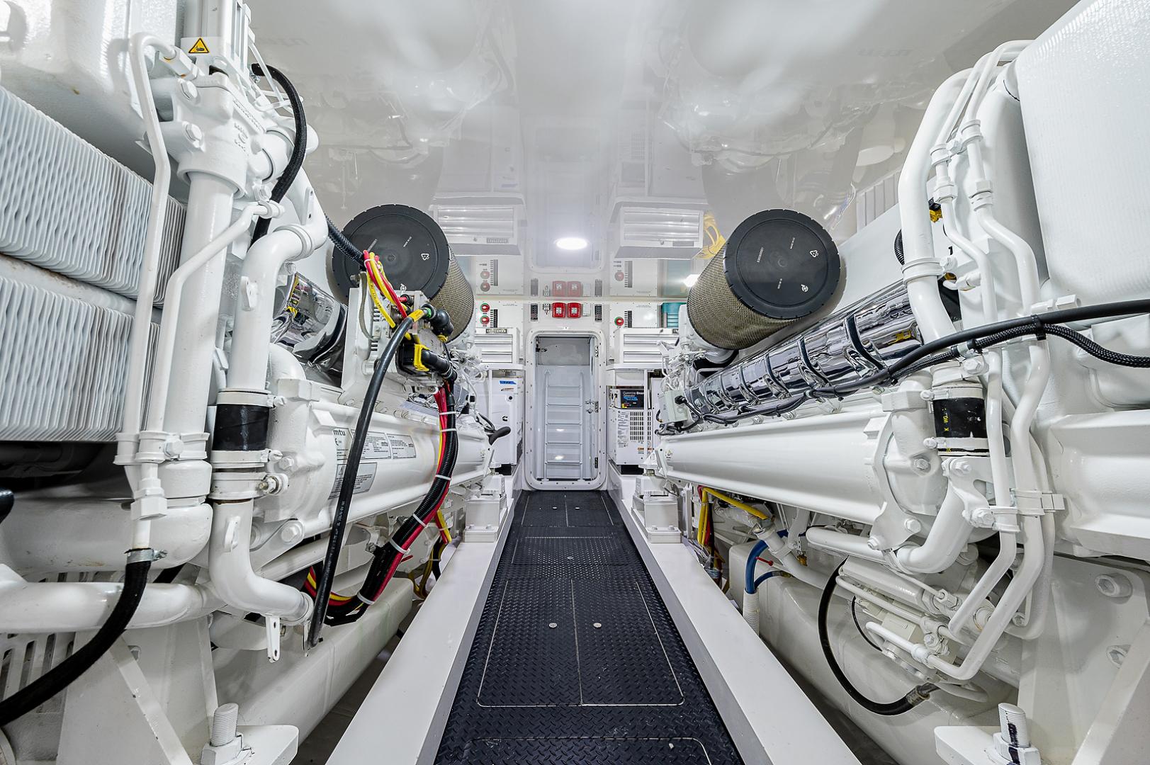 Viking 72 - Three's Enough -Engine Room