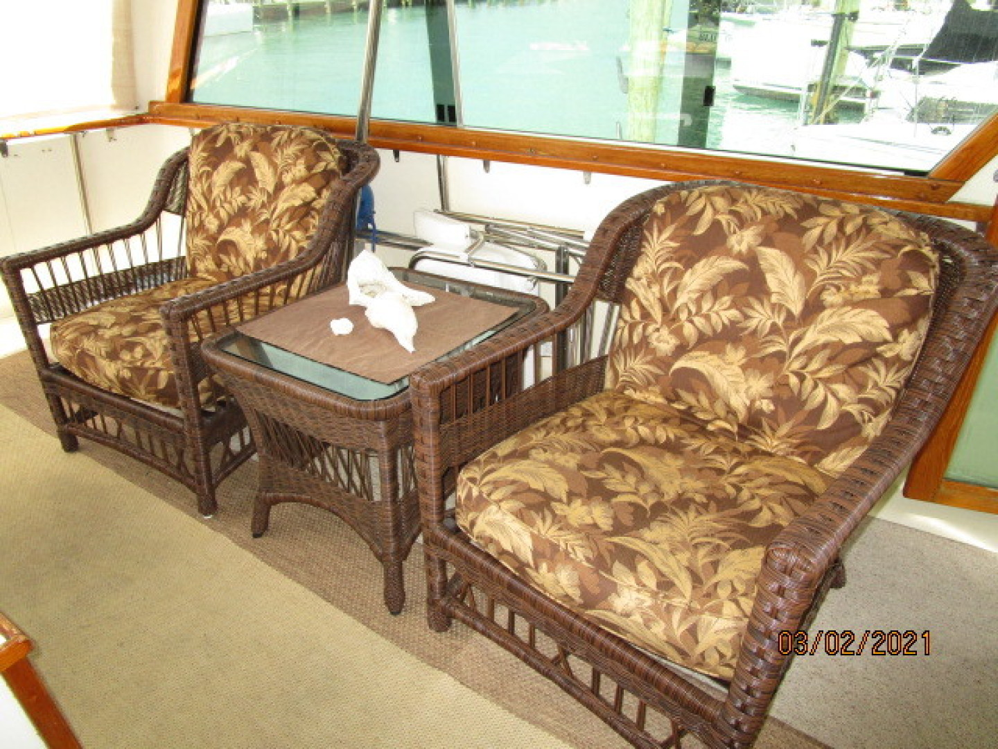 Hatteras-48 1981-Partner Ship Carolina Beach-North Carolina-United States-48 Hatteras sundeck port seating-1629325 | Thumbnail