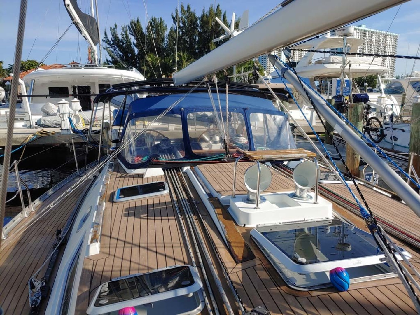 Jeanneau-Sun Odyssey 52.2 2001-Perseverance Hollywood-Florida-United States-Foredeck and Dodger-1631443 | Thumbnail