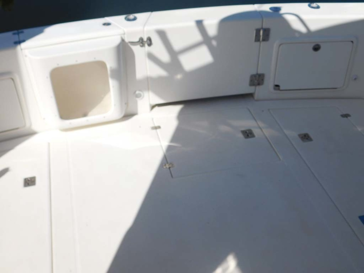 Riviera-Express 2003-Last 1 Cocoa Beach-Florida-United States-Cockpit Aft, Live Well and Transom Door Closed-1633078 | Thumbnail