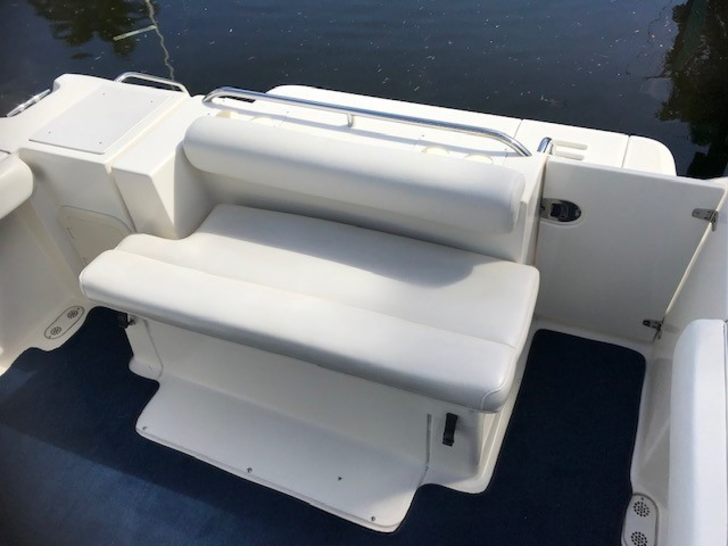 Pursuit 28 - Wired Up - Aft Seating with carpet liner