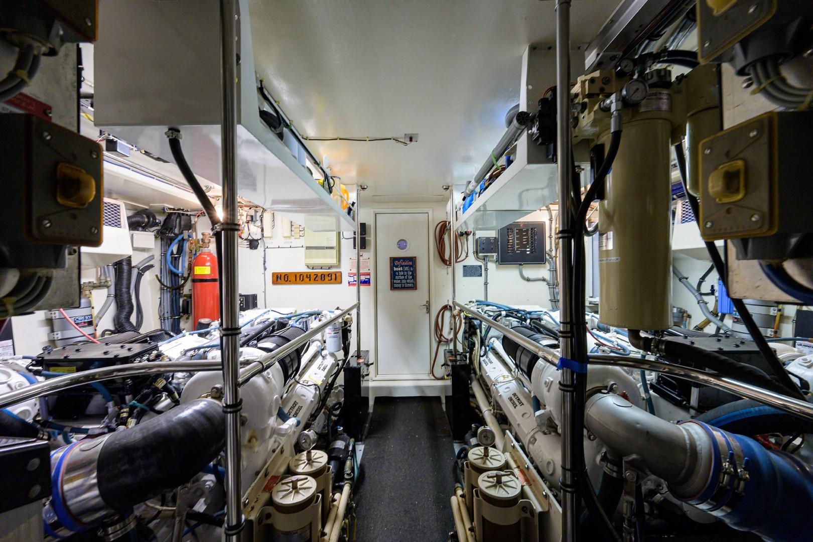 Hatteras 70 - Gypsy Rose - Engine Room