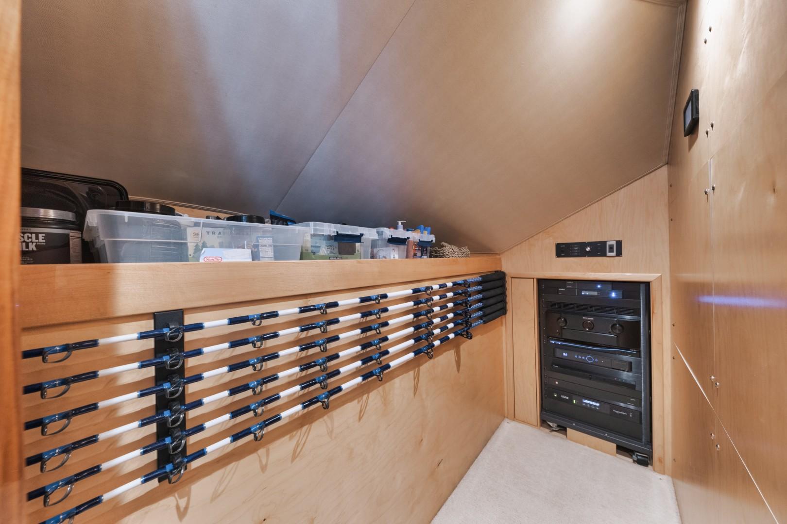 Viking 68 - Whirlwind - Rod Storage